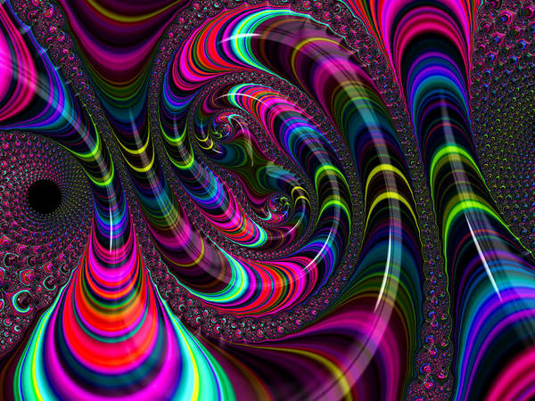 Digital Art - Colorful Fractal Art by Matthias Hauser