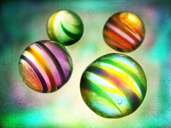 Photograph - Colorful Glass Marbles by Marianna Mills