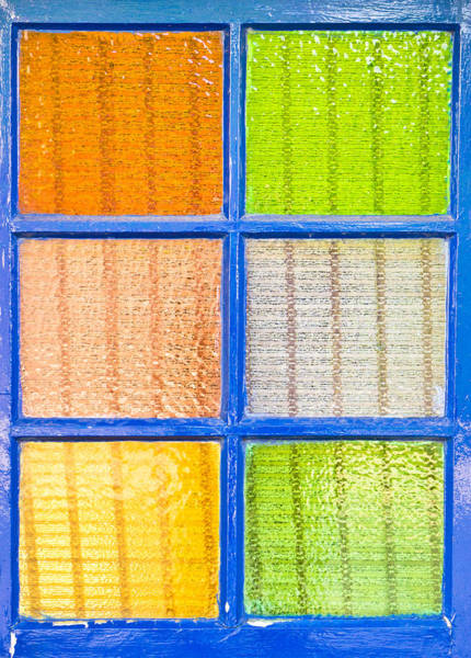 Frosted Glass Photograph - Colorful Glass by Tom Gowanlock