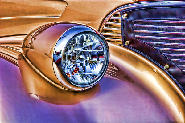 Classic Hot Rod Wall Art - Photograph - Colorful Hotrod by Carol Leigh