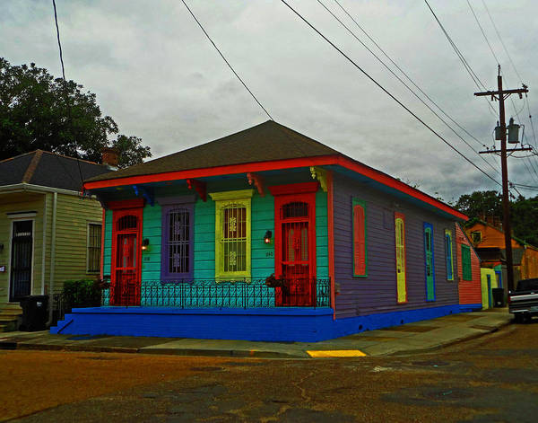 Photograph - Colorful House In New Orleans by Louis Maistros
