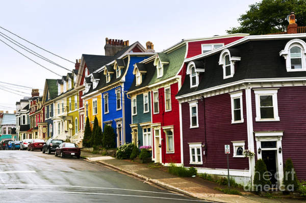 Photograph - Colorful Houses In Newfoundland by Elena Elisseeva