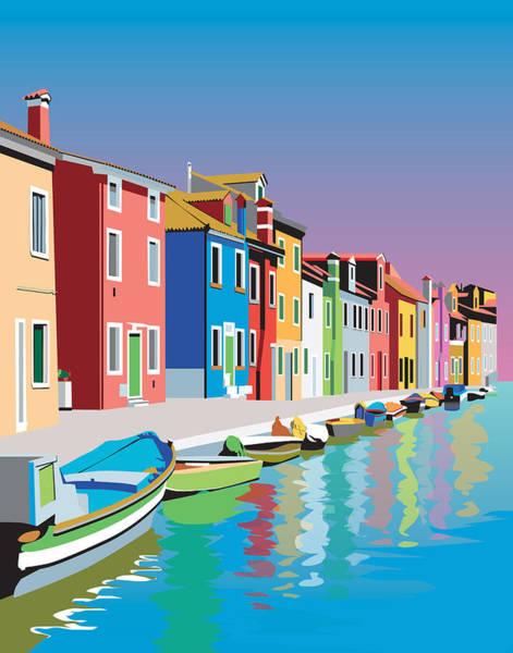 Wall Art - Digital Art - Colorful Houses by Robert Korhonen