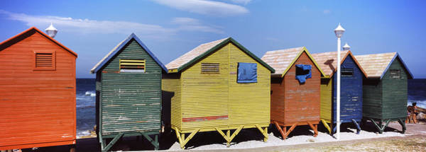 Lamppost Photograph - Colorful Huts On The Beach, St. James by Panoramic Images
