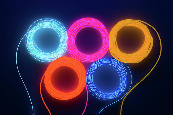 Photograph - Colorful Illuminated Led Wire by Miragec