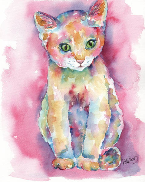 Painting - Colorful Kitten by Greg and Linda Halom