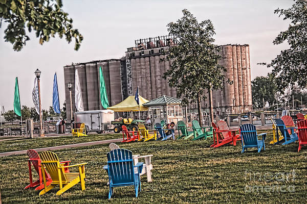 Photograph - Colorful Lawnchairs by Jim Lepard