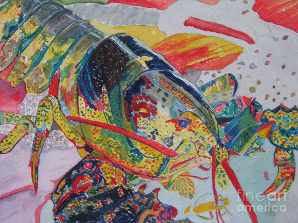 Painting - Colorful Lobster by Peggy Dickerson