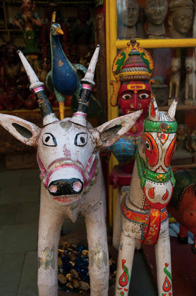 Wall Art - Photograph - Colorful Local Handicrafts, Pushkar by Inger Hogstrom