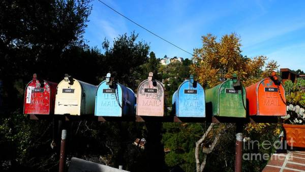 Wall Art - Photograph - Colorful Mailboxes by Nina Prommer