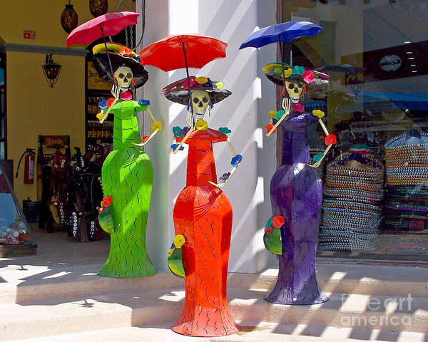 Photograph - Colorful Mannequins by Tom Doud