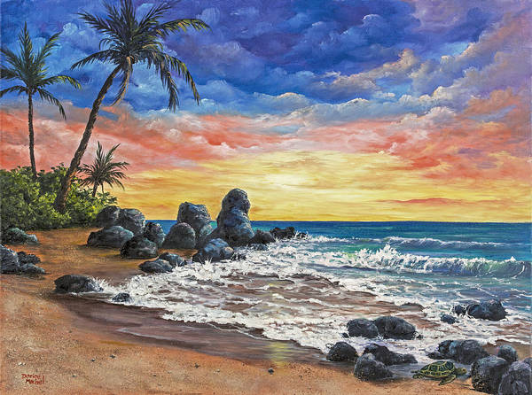 Painting - Colorful Maui Sunset by Darice Machel McGuire