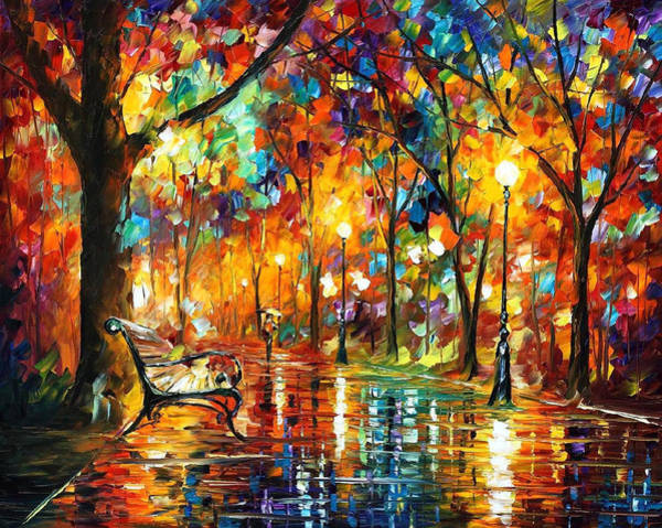 Leonid Wall Art - Painting - Colorful Night - Palette Knlfe Oil Painting On Canvas By Leonid Afremov by Leonid Afremov