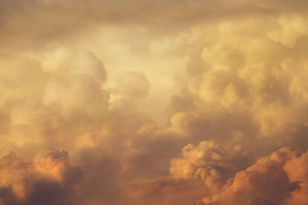 Stormcloud Photograph - Colorful Orange Magenta Storm Clouds At Sunset by Keith Webber Jr
