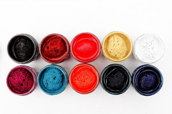 Colorful Paint Pots Art Print