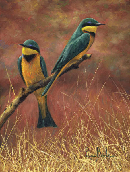 Africa Painting - Colorful Pair by Lucie Bilodeau