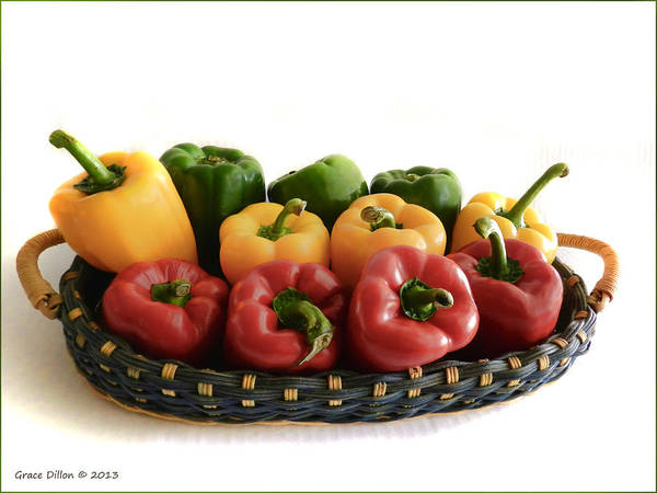 Photograph - Colorful Peppers  by Grace Dillon