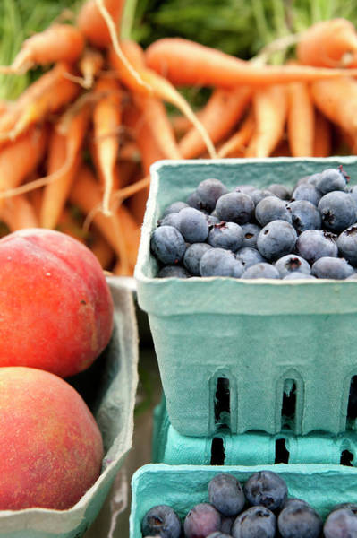 Fruit Photograph - Colorful Produce Display At A Farmers by Lauren Krohn