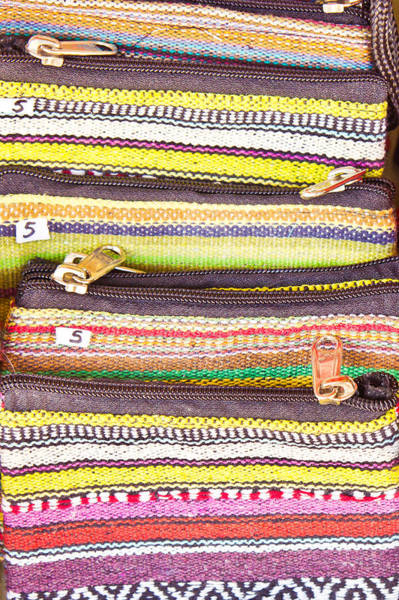 Wallet Wall Art - Photograph - Colorful Purses by Tom Gowanlock