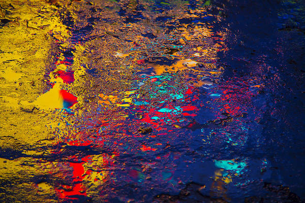 Gutter Photograph - Colorful Reflections by Garry Gay