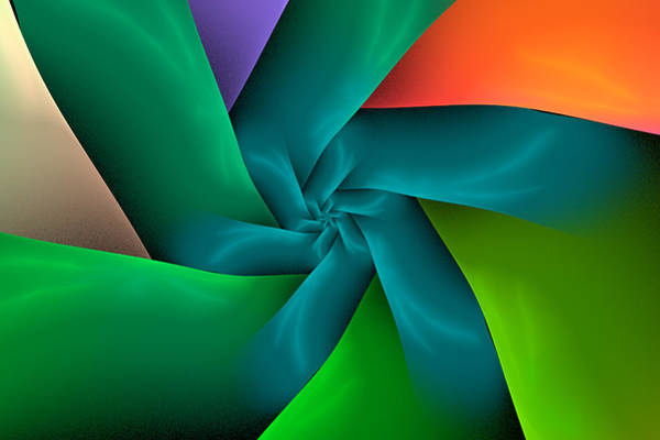 Digital Art - Colorful Ribbons by Sandy Keeton