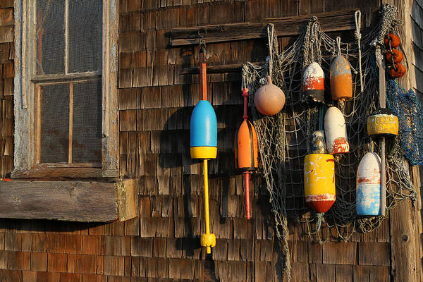 Photograph - Colorful Rockport Buoys  by Juergen Roth