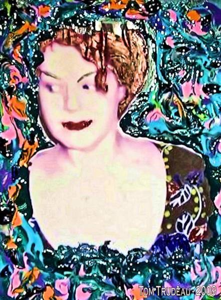 Ms Mixed Media - Colorful Seductress by Tommi Trudeau