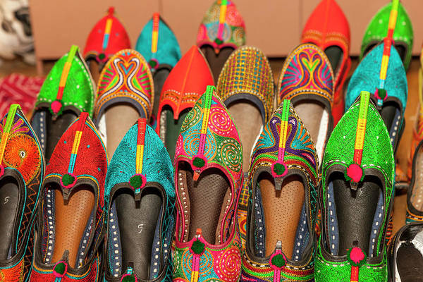 Jodhpur Wall Art - Photograph - Colorful Shoes For Sale by Tom Norring