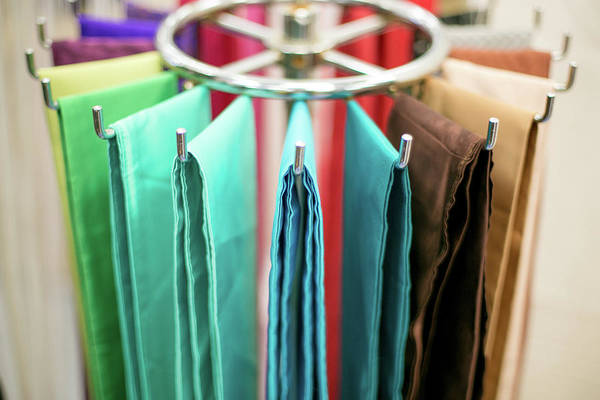 Texas A Photograph - Colorful Silk Sashes On A Rack by Jennifer M. Ramos