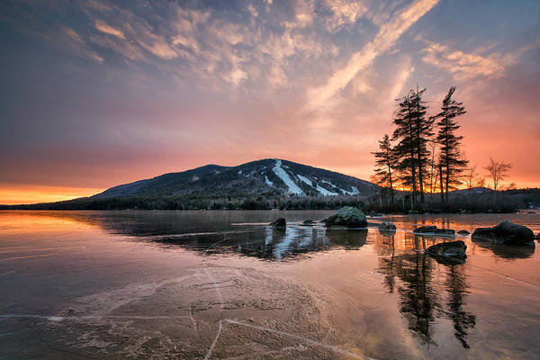 Photograph - Colorful Sky And Frozen Pond by Darylann Leonard Photography