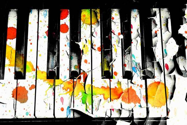 Grand Piano Digital Art - Colorful Sound by Aaron Berg