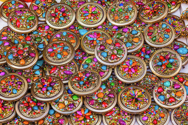 Craftsmanship Photograph - Colorful Souvenir Jewelry, Guanajuato by William Perry