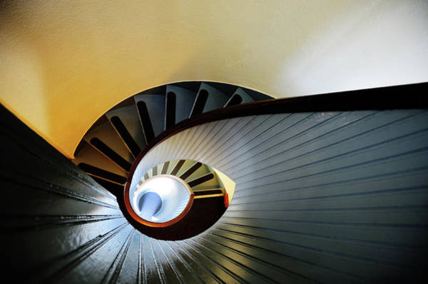 Photograph - Colorful Spiral Staircase, Lighthouse by Olaser