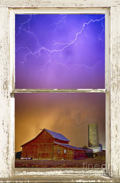 Photograph - Colorful Storm Farm House Window View by James BO Insogna