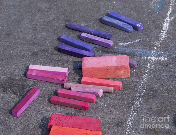 Photograph - Colorful Street Chalk by Juli Scalzi