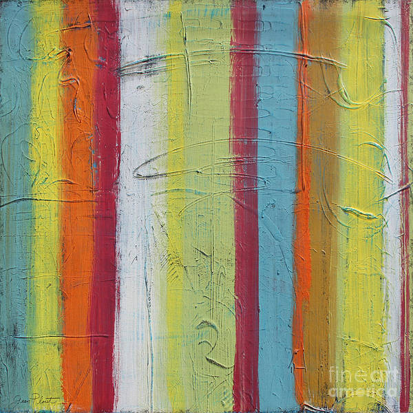 Emboss Wall Art - Painting - Colorful Stripes-jp2504 by Jean Plout
