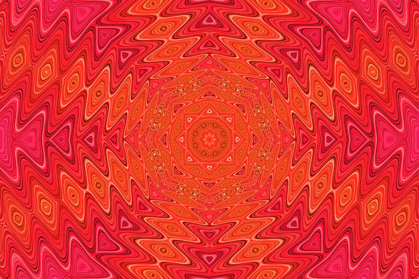 Photograph - Colorful Sun Mandala by Peggy Collins