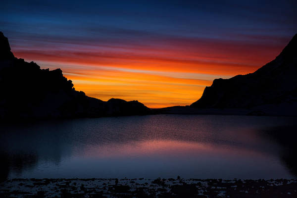 Wall Art - Photograph - Colorful Sunrise Over The Lake by Anton Jankovoy