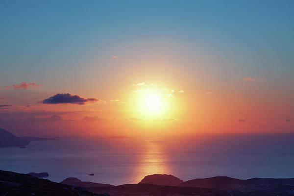 Dodecanese Photograph - Colorful Sunset by Borchee