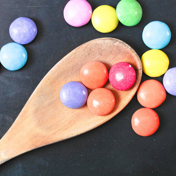 Blue Spoon Photograph - Colorful Sweets by Tom Gowanlock