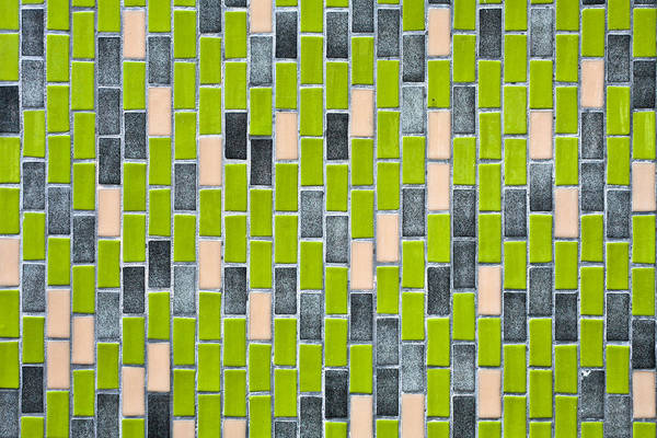 Glazed Tiles Photograph - Colorful Tiles by Tom Gowanlock