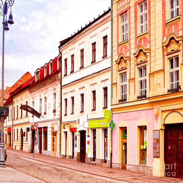 Photograph - Colorful Town Homes by Les Palenik