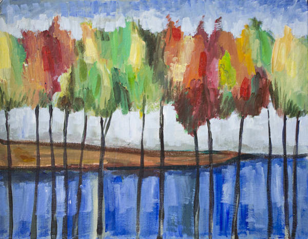 Painting - Colorful Trees  by Richard Fritz