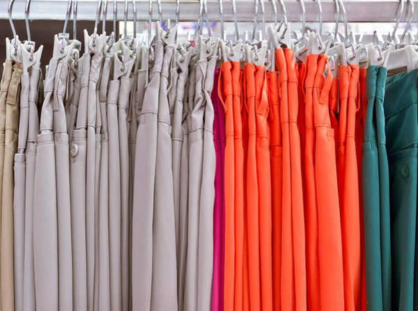 Dress Shop Photograph - Colorful Trousres by Tom Gowanlock