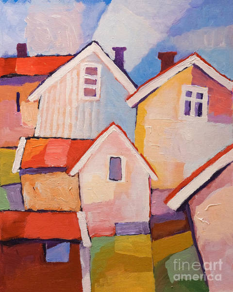 Painting - Sunny Village by Lutz Baar