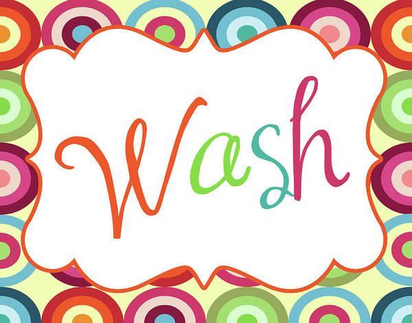 Bath Room Wall Art - Painting - Colorful Wash by Tamara Robinson