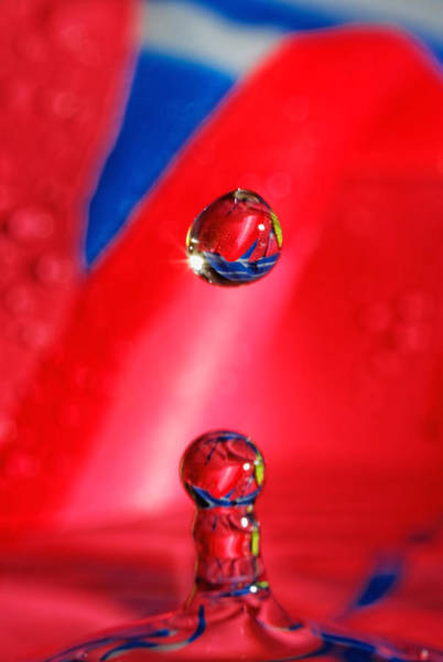 Photograph - Colorful Water Drop by Peter Lakomy