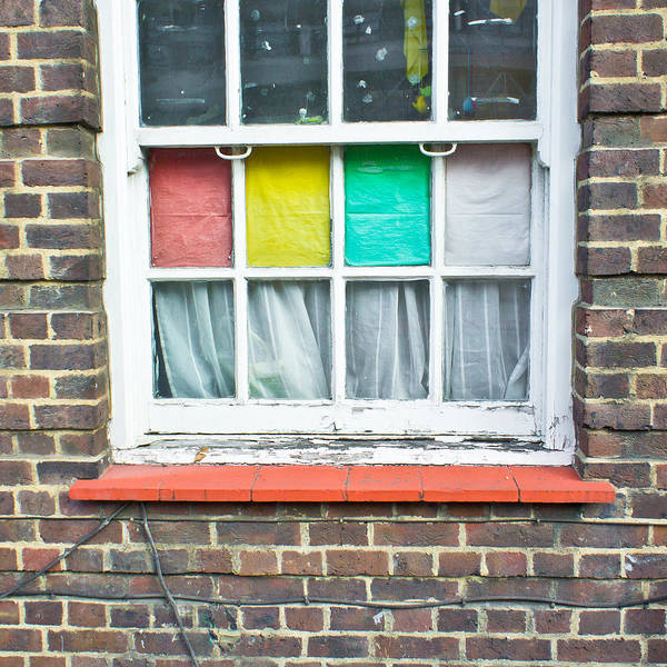 Kindergarten Photograph - Colorful Window by Tom Gowanlock
