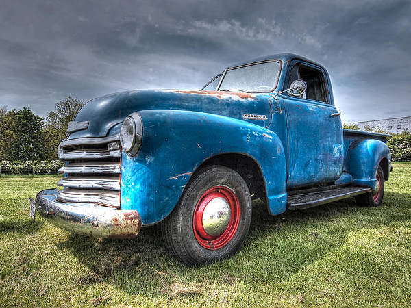 Pick Up Truck Photograph - Colorful Workhorse - 1953 Chevy Truck by Gill Billington