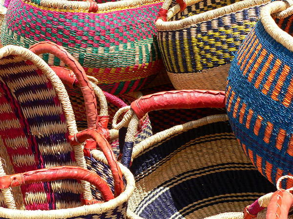 Photograph - Colorful Woven Baskets by Jeff Lowe
